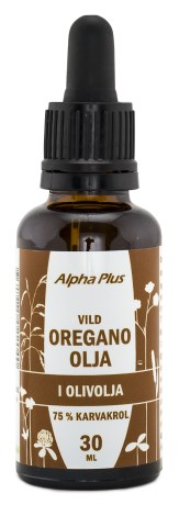 Alpha Plus Oreganoolja, Naturliga Oljor - Alpha Plus