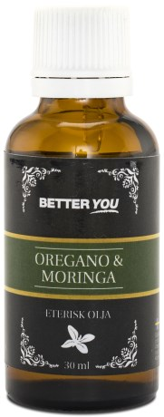 Better You Eterisk Oregano & Moringa EKO, Naturliga Oljor - Better You
