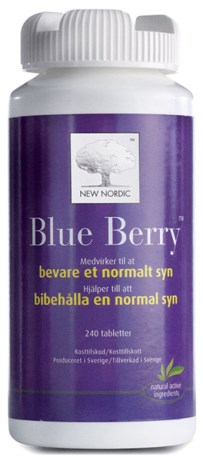 New Nordic Blue Berry Plus Ögonvitamin,  - New Nordic
