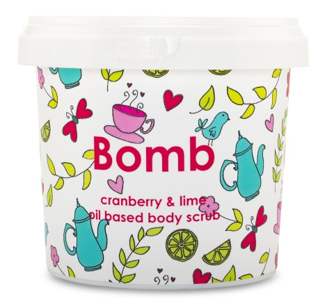 Bomb Cosmetics Body Scrub Cranberry & Lime - Bomb Cosmetics