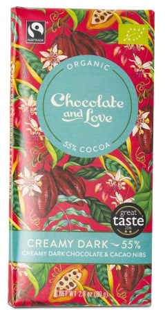 Chocolate and Love Creamy Dark Chocolate & Cacao Nibs - Chocolate & Love