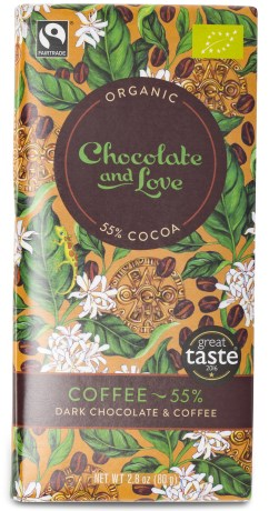 Chocolate and Love Dark Chocolate & Coffee - Chocolate & Love