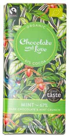 Chocolate and Love Dark Chocolate & Mint Crunch, Livsmedel - Chocolate & Love