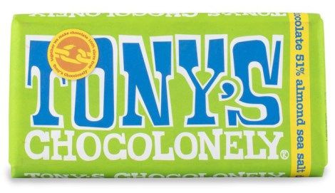 Tonys Chocolonely Dark Chocolate Almond Sea Salt, Livsmedel - Tonys Chocolonely