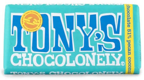 Tonys Chocolonely Dark Chocolate Pecan Coconut, Livsmedel - Tonys Chocolonely