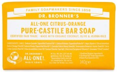 Dr Bronner Pure Castile Bar Soap Citrus