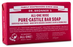 Dr Bronner Pure Castile Bar Soap Rose