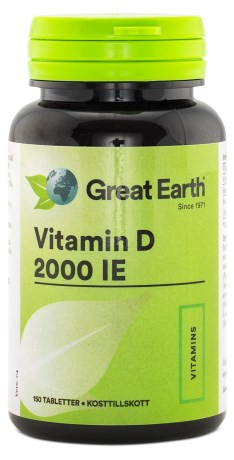 Great Earth Vitamin D-Dry 2000 IE - Great Earth