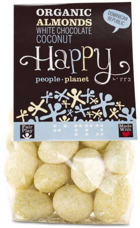 Happy People Planet Mandlar med Vit choklad och Kokos - Happy People Planet