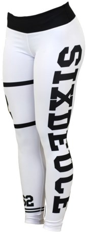 Six Deuce Jersey White Fitness Tights - Six Deuce