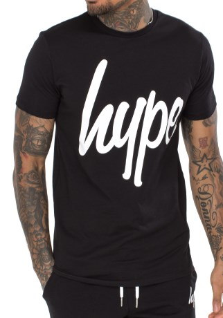 Just Hype Mens Script T-Shirt - Just Hype