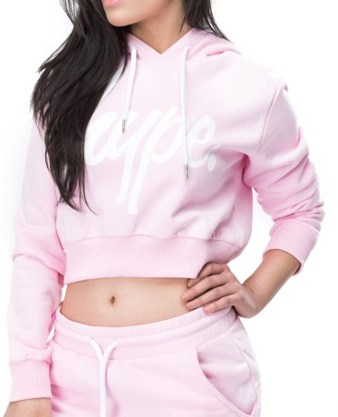 Just Hype Script Crop Hoodie - Just Hype