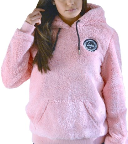 Just Hype Womens Pullover Sherpa Hoodie - Just Hype