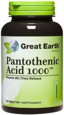 Great Earth Pantothenic Acid