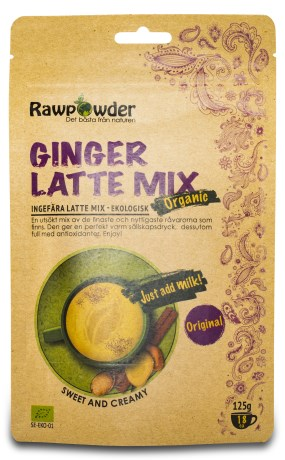 RawPowder Ginger Latte Mix EKO - RawPowder
