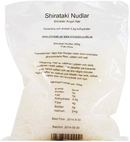 Raw Food Shop Shirataki nudlar, Livsmedel - Raw food shop