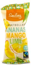 Smiling Fruktbollar Mango/Ananas/Lime Fairtrade