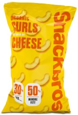 Snackbros Organic Curls, Cheese