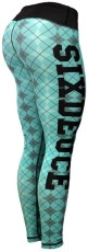 Six Deuce Teal Argyle Fitness Tights