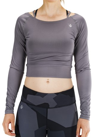 Workout Empire Cropped Longsleeve V-Back Top - Workout Empire