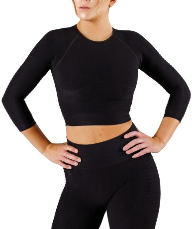 Workout Empire Regalia Flow Crop 3/4 LS - Workout Empire
