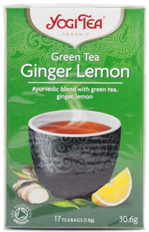 Yogi Tea Green Tea Ginger Lemon, Livsmedel - Yogi