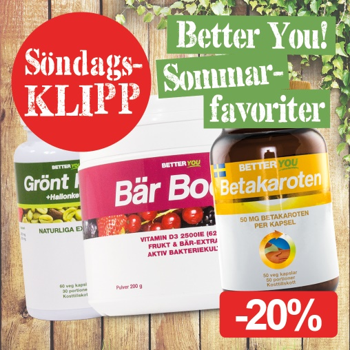 Söndagklipp! Better You sommarfavoriter -20%