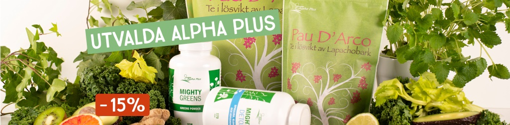 Alpha Plus utvalt -15%