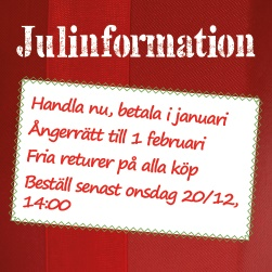 Julinformation