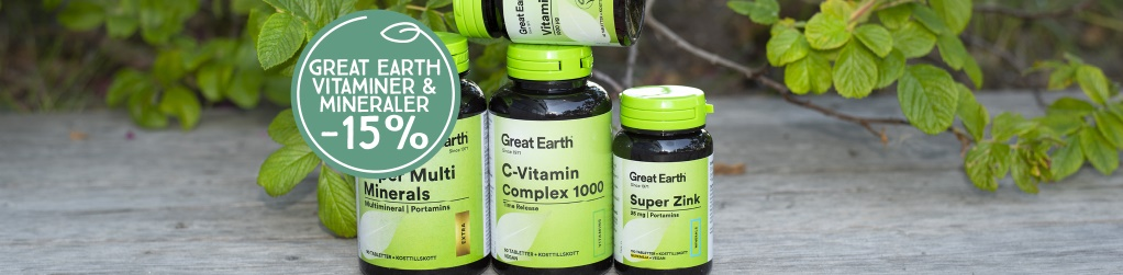 Great Earth vitaminer & mineraler -15%