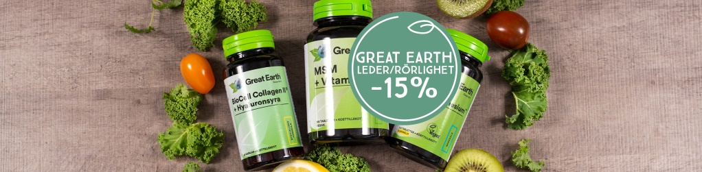 Great Earth rörlighet & leder -15%
