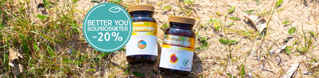 Solprodukter Better You -20%